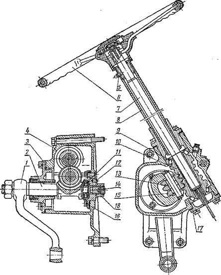 Рулевой привод трактора ЮМЗ-6
